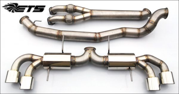 """ETS Nissan GTR 4.0"""" (102mm) Stainless Steel Exhaust System WITH Y-Pipe"""