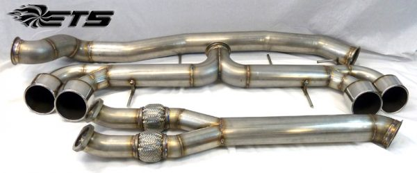 "ETS Nissan GTR 4.0"" (102mm) Stainless Steel RACE Exhaust System WITH Y-Pipe"